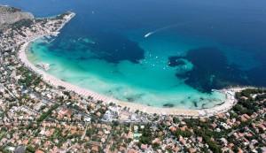 La costa di Mondello (Palermo)