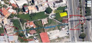L'area del tram nei pressi del complesso dell'Uscibene