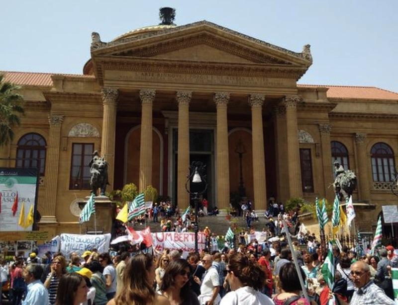 La manifestazione per la scuola del 5 maggio 2015