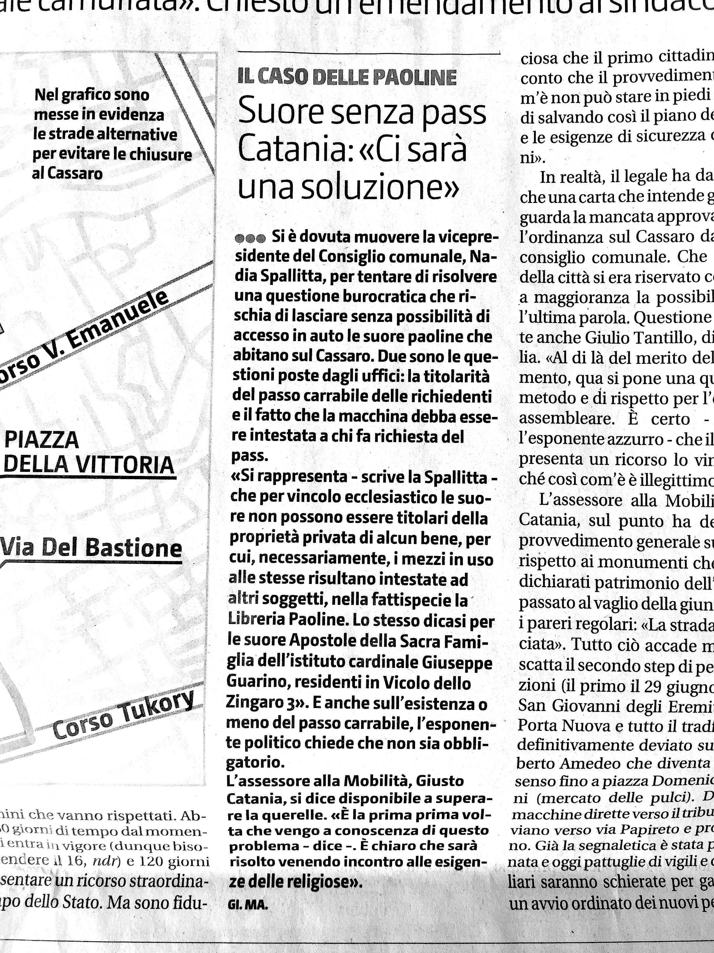 Suore senza pass Catania ci sara una soluzione